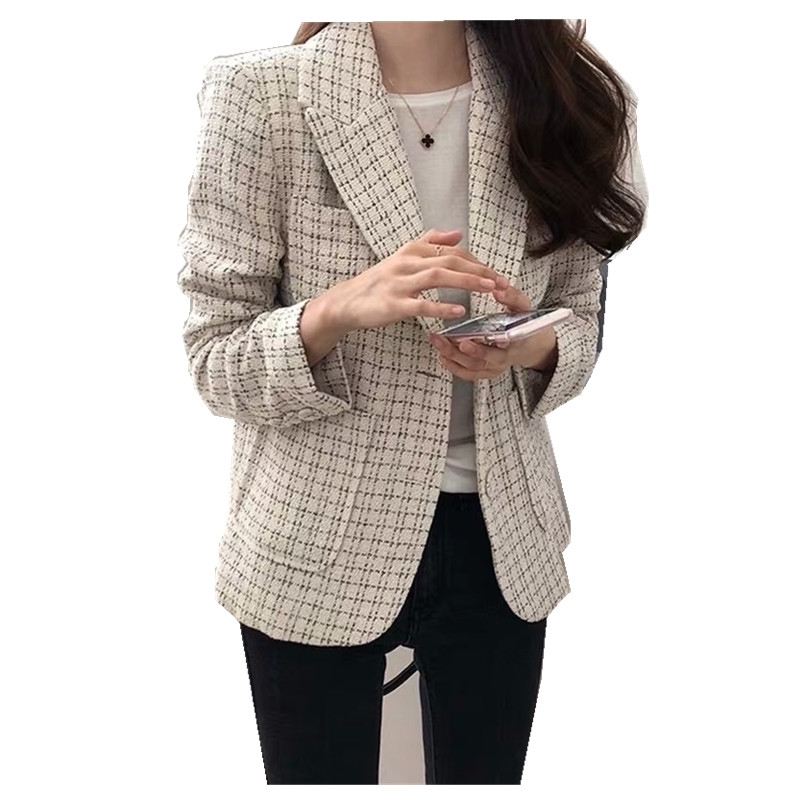 Small suit female short coat Korean version 2019 spring and autumn new fashion retro plaid women blazers and jackets
