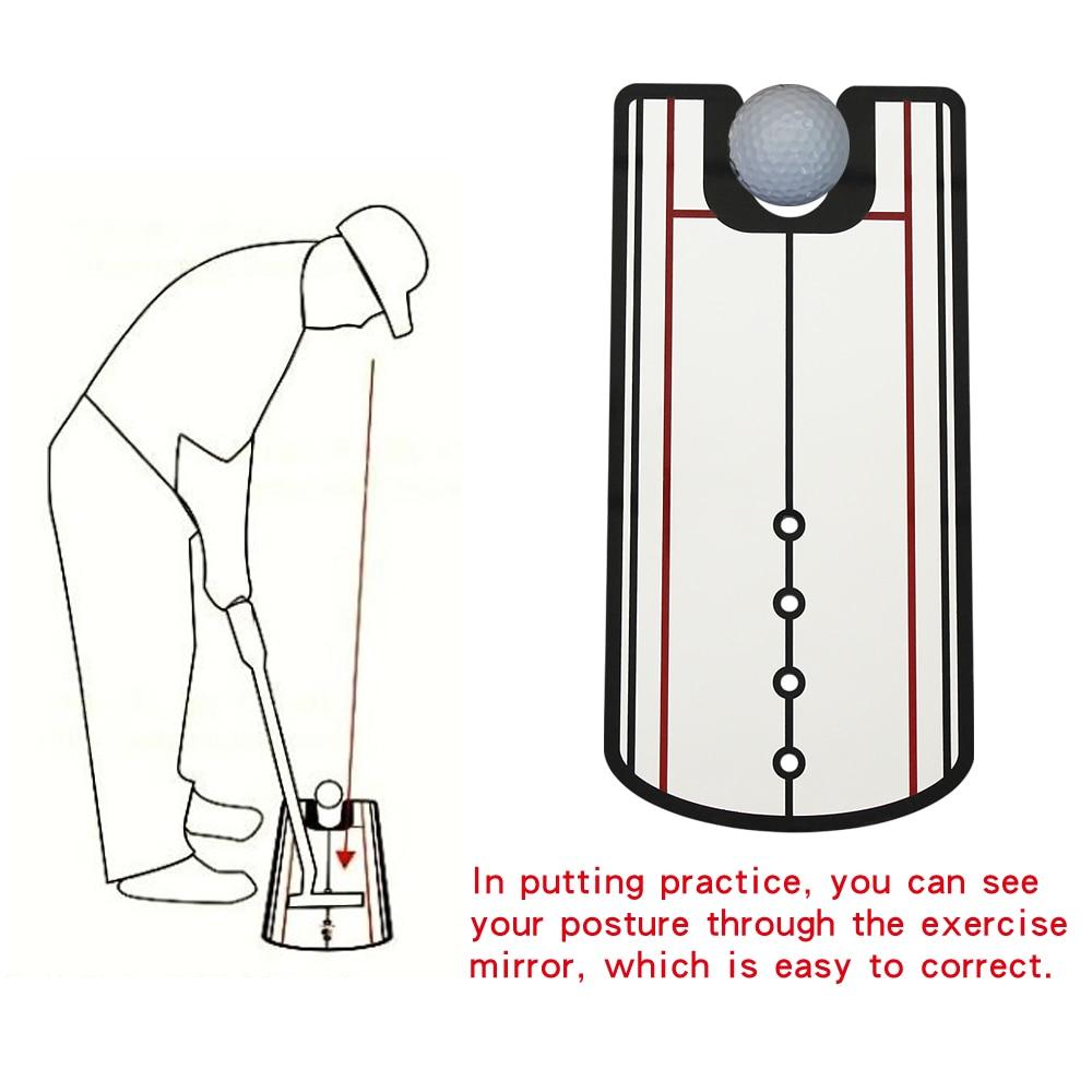 1 PCS Golf Putting Mirror Alignment Training Aid Golf Putter Straight Practice Eye Line Golf Accessories 32 X 14.5cm Drop Ship
