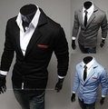 Hot Sale 2016 New Design Mens Marca Blazer Jacket Casacos Casual Slim Fit Elegante Blazers Para Homens Masculino, Plus Size M ~ XXL, 3 cores