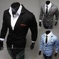 Venta caliente 2016 Nuevo Diseño Para Hombre de la Marca Blazer Jacket Coats ocasionales Adelgazan Con Estilo Apto Blazers Para Los Hombres Masculinos, Más Tamaño M ~ XXL, 3 colores