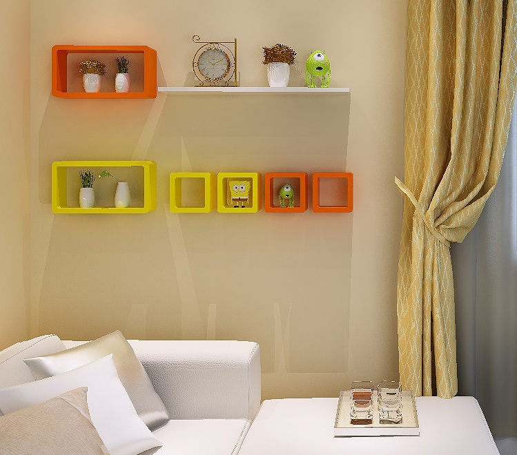 (1 Big Rectangle +2 Small Square)/Lot Colorful Wall Floating Shelf Shelving  With Screws Decoration-in Bolts from Home Improvement on Aliexpress.com ...