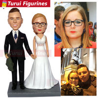wedding figurine cake topper custom bobblehead from wedding photos party decoration wedding Handmade Bobblehead china suppliers