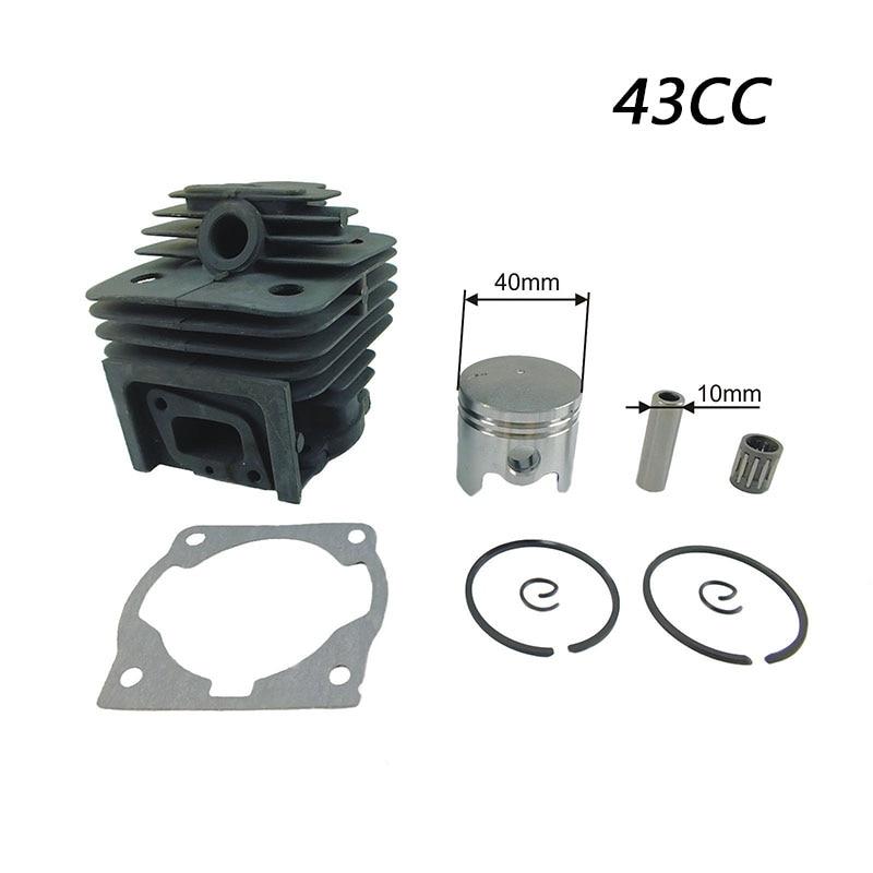 Nova 1 pc Kit de Pistão Do Cilindro para 43CC CG430 BG430 MITSUBISHI TL43 Strimmer Roçadora parte ferramenta de Kits de Pistão Do Cilindro