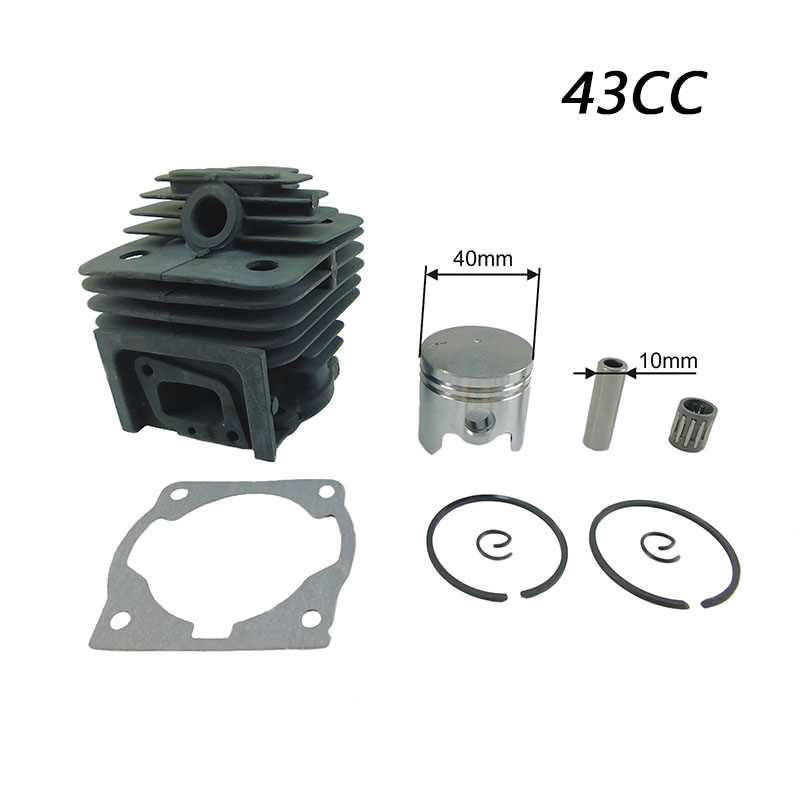 New 1pc Cylinder Piston Kit For 43CC CG430 BG430 MITSUBISHI TL43 Strimmer Brushcutter Tool Part Cylinder Piston Kits