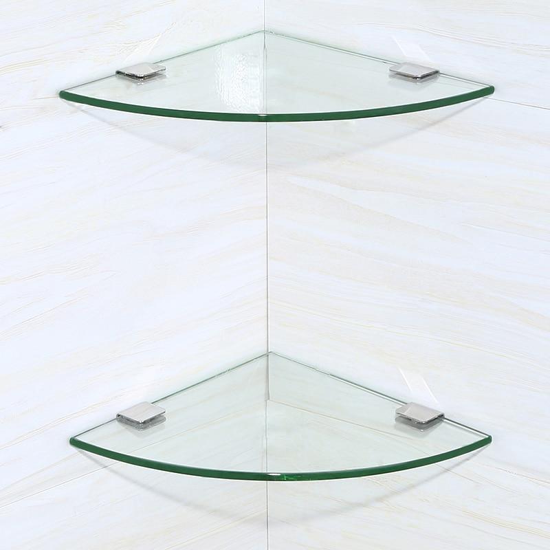 Estanterias De Cristal Para Cuartos De Bano.Bano Estante Plata Triangulo Bano Accesorios De Hardware De