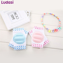 Summer season New Child Knee Pads Breathable Toddle Protector Sponge Elbow Non-Slip Security Crawling Cartoon Leg Heaters Toddler Kneepads