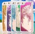 LYBALL Glitter Stars Bling Dinámico Liquid Quicksand Duro Caso Para Cubrir iphone 5c 5s 6 6 s 7 6 7 plustransparent clara teléfono caso