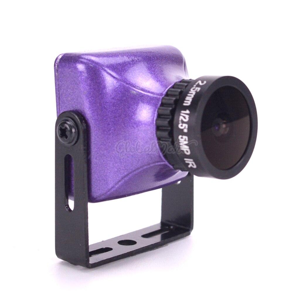 800TVL HD 12.7 SUPER HAD II CCD Mini Camera 2.5mm Lens With OSD Button PALNTSC Purple For RC Drone Quadcopter Models (8)