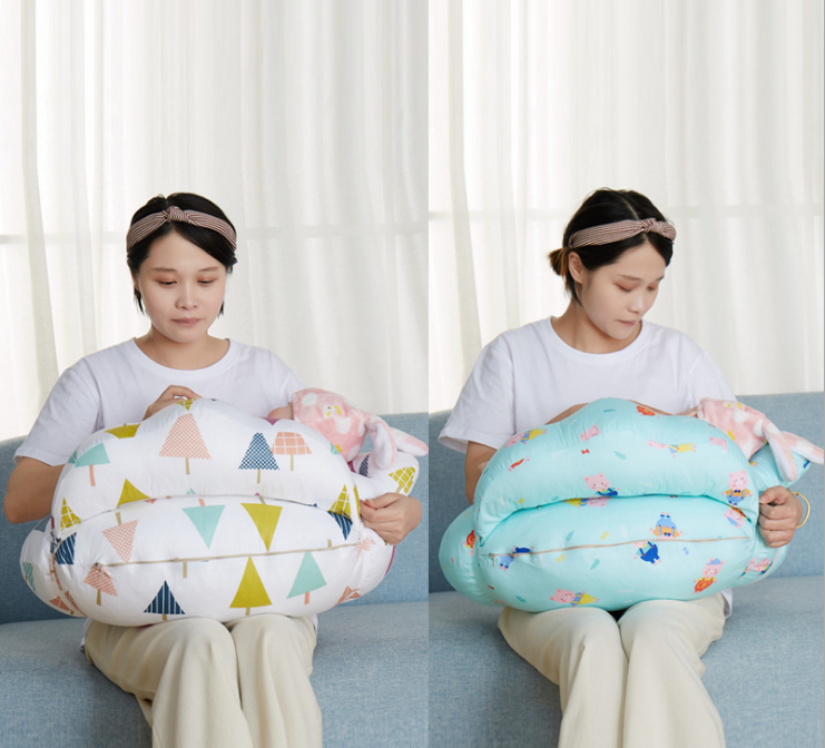 Baby Nursing Pillows Cotton Maternity Baby U Shaped Breastfeeding Pillow Fence Design Nursing Breastfeeding Infant Pillows Z793 in Breastfeeding Pillow from Mother Kids