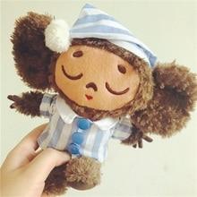 söt apa plysch leksak cheburashka mjuk docka Ryssland Anime leksak baby barn sova appease docka födelsedag / Xmas gåva