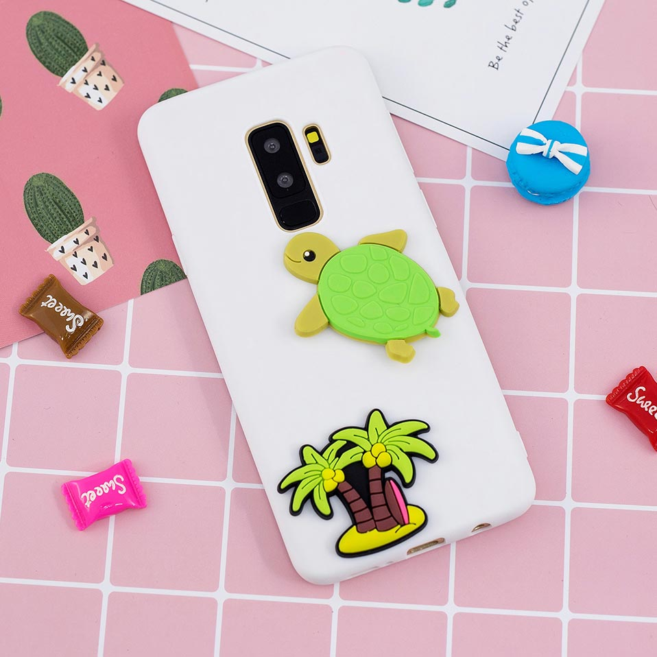 Cute white rabbit soft shell For Samsung S6 S7 S8 S9 For Samsung Note 8 9 Funda For Samsung S6 S7 Edge Drop-proof Back Covers