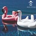 Da Praia do verão Do Bebê Rosa Flamingo Swan Natação Anel Inflável Nadar Tempo de Festa Brinquedos Piscina de Água Assento Float Boat Crianças Beber titulares