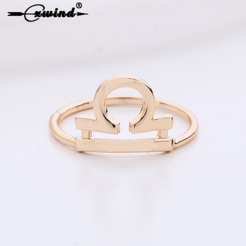 Cxwind Geometric Crown Rings for women ibra knuckle Ring Gold Silver Filled wedding Finger Ring Jewelry Zodiac Ring Accessories