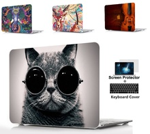 3IN1 laptop Hard Shell Case+Keyboard Cover For Apple Macbook Air Pro Retina Touch Bar&ID 11 11.6 12 13 13.3 15 15.4 A1932 A1989