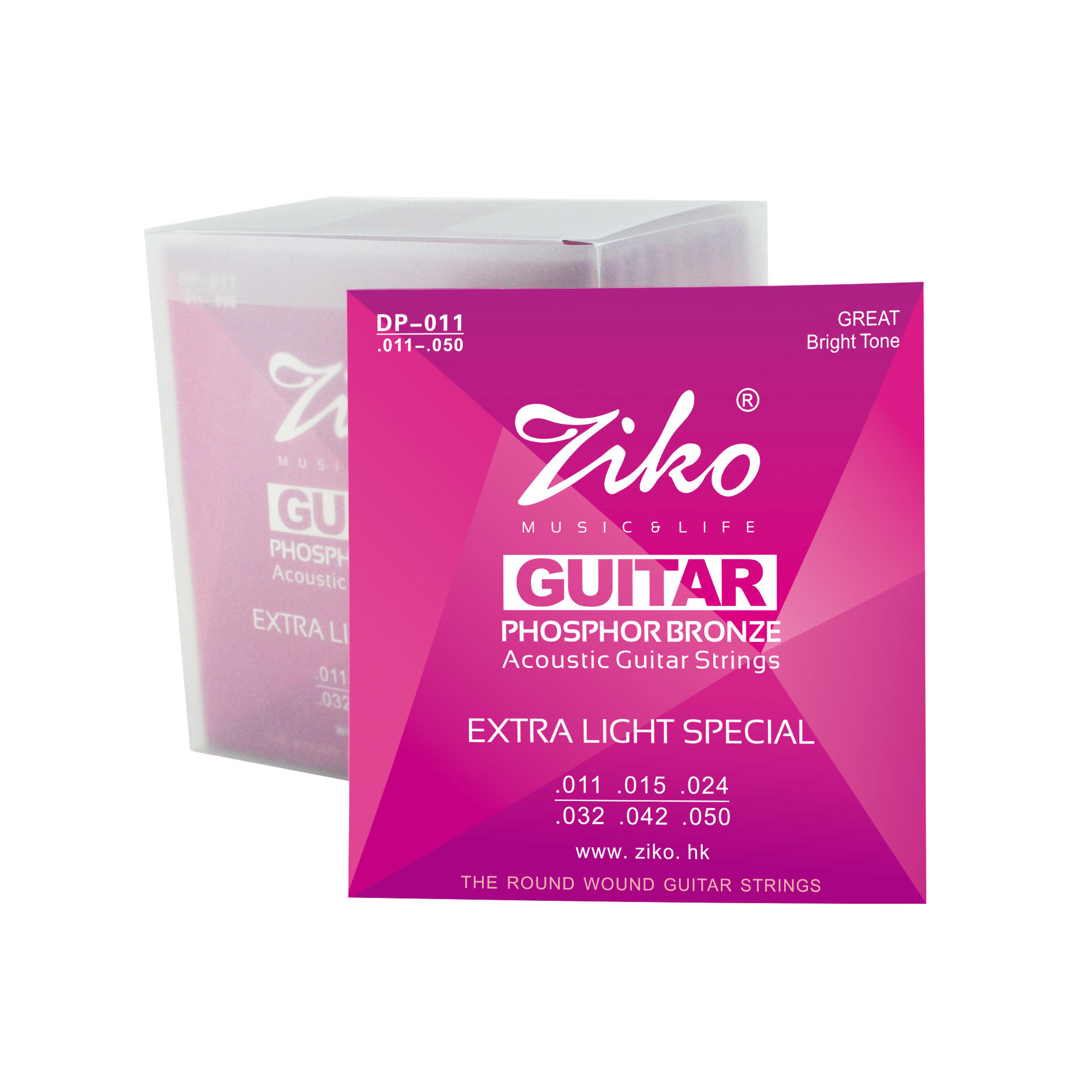 Ziko acoustic guitar strings 011 - 050 wood guitar string1st-6th strings free shipping 38 inch folk guitar to send full color gifts string linden wood guitar six strings with free shipping