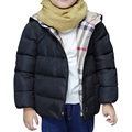 Solid Color Fashion Winter Jackets for Boys Girls 2016 Cartoon Hooded Down Coat Zipper Casual Thick Warm Coats Children Clothing