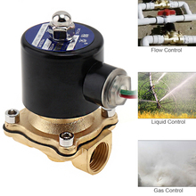 1/2″ AC 220V Electric Solenoid Valve Pneumatic Valve Brass Body for Water / Oil / Gas