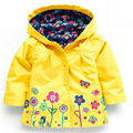 Spring / autumn Children winter outwear Hooded jacket Girls windproof Jackets & Coats, fashion children raincoat