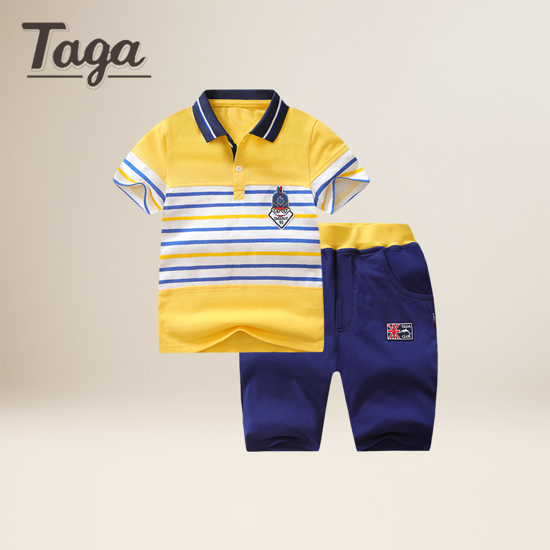 TAGA 2017 Baby Boys Clothing Sets Children Sport Suits Children's Clothing Sets For Kids Cotton Clothes Boy POLO T-Shirts+ Pant