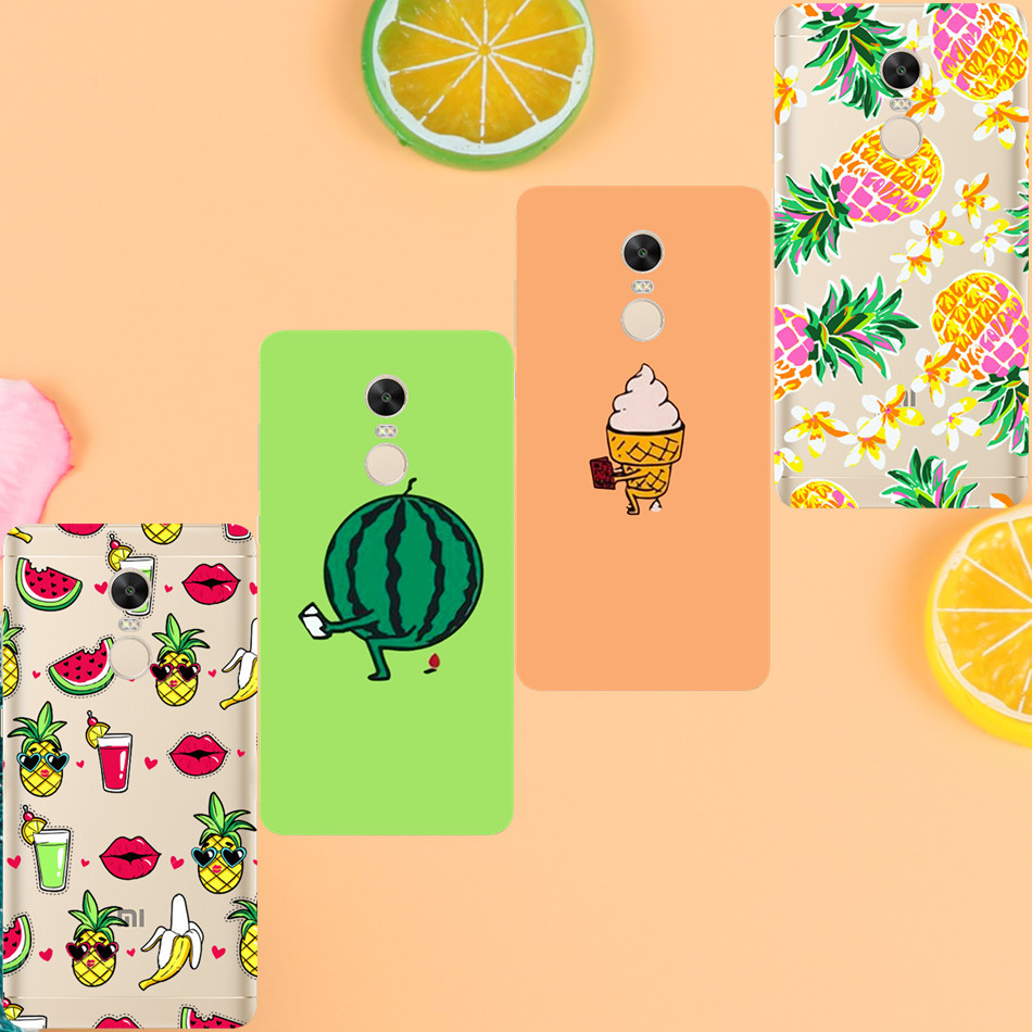 Banana Pineapple Cover Case for iPhone 7 4 4S 5 5S 5C SE 6 6S Plus For <font><b>Xiaomi</b></font> <font><b>Redmi</b></font> 4 4A 3S 3 S <font><b>4X</b></font> Note 3 4 Pro Prime <font><b>4X</b></font>