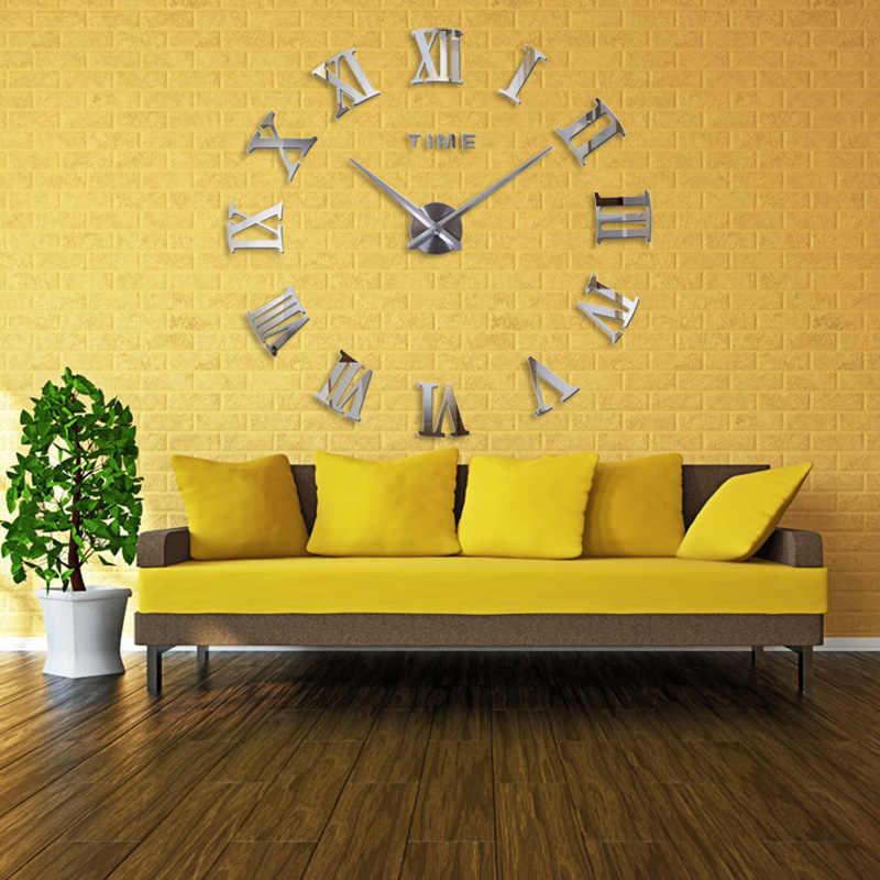 Yeni 3D En Iyi Ev Dekorasyon DIY duvar saati Benzersiz Akrilik numarası Çıkartmalar Kendinden Yapışkanlı ev Dekor Modern duvar saati s
