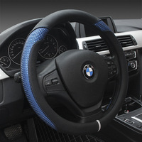 Black Leather Convenience Car Steering Wheel Cover For BMW E39 E46 325i E53 X5