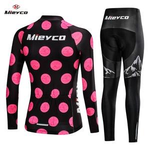 Image 2 - 2020 ربيع المرأة طويلة الدراجات الملابس ملابس دراجة الجبلية روبا Ciclismo عاشق سباق نمط سريعة الجافة دورة الملابس مريلة سراويل قصيرة