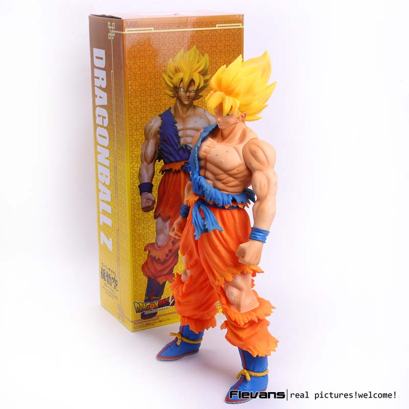Dragon Ball Z Super Saiyan 2 Son Gokou Damaged Ver. PVC Action Figure Collectible Model Toy 18 46cm anime figure 32cm dragon ball z super saiyan son goku lunar new year color limited ver pvc action figure collectible model toy