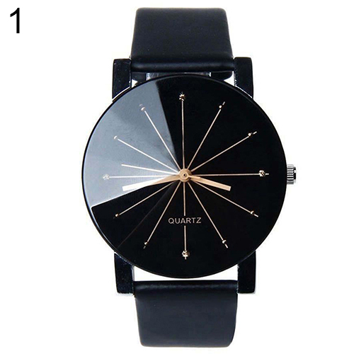 Hot Sales Hot Men Women Fashion Stainless Steel Faux Leather Quartz Sports Dress Wrist Watch AJUK