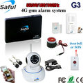 hot sale Voice prompts burglar alarm system 98 zones Wireless&wired GSM Home Security Alarm System+ pet PIR Sensors+ IP camera
