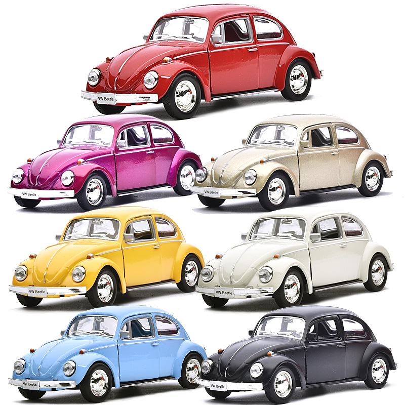 Beetle Car Model Toy 1/32 With Pull Back For Kids Christmas Gifts 1967 Alloy Diecast Classic Toy Collection