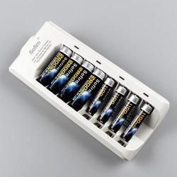 Sofirn 8 slots carregador de bateria inteligente com luz indicadora para aa aaa nimh nicd baterias recarregáveis eua/ue plug sem bateria