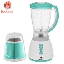 Блендер ВАСИЛИСА ВА-306Н с кофемолкой, белый с зеленым: мощность 450Вт, чаша 1,5л., кофемолка 50 гр., 3 скоростных режима