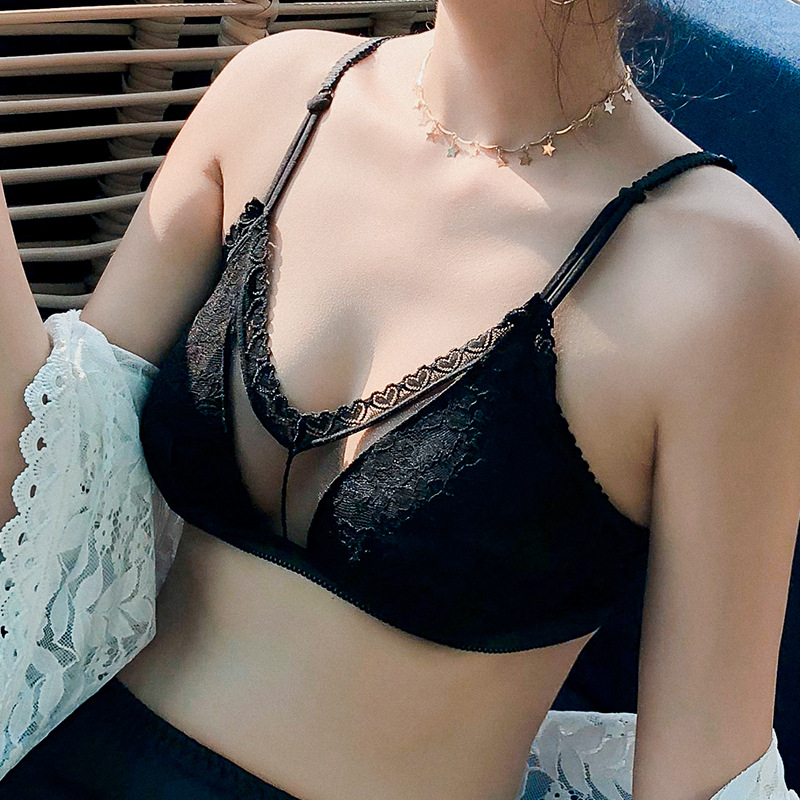 Sexy Lace Bras For Women Push Up Bra Seamless Bralette Padded Lingerie Transparent Cup Brassiere Wire Free Underwear #D lingerie top