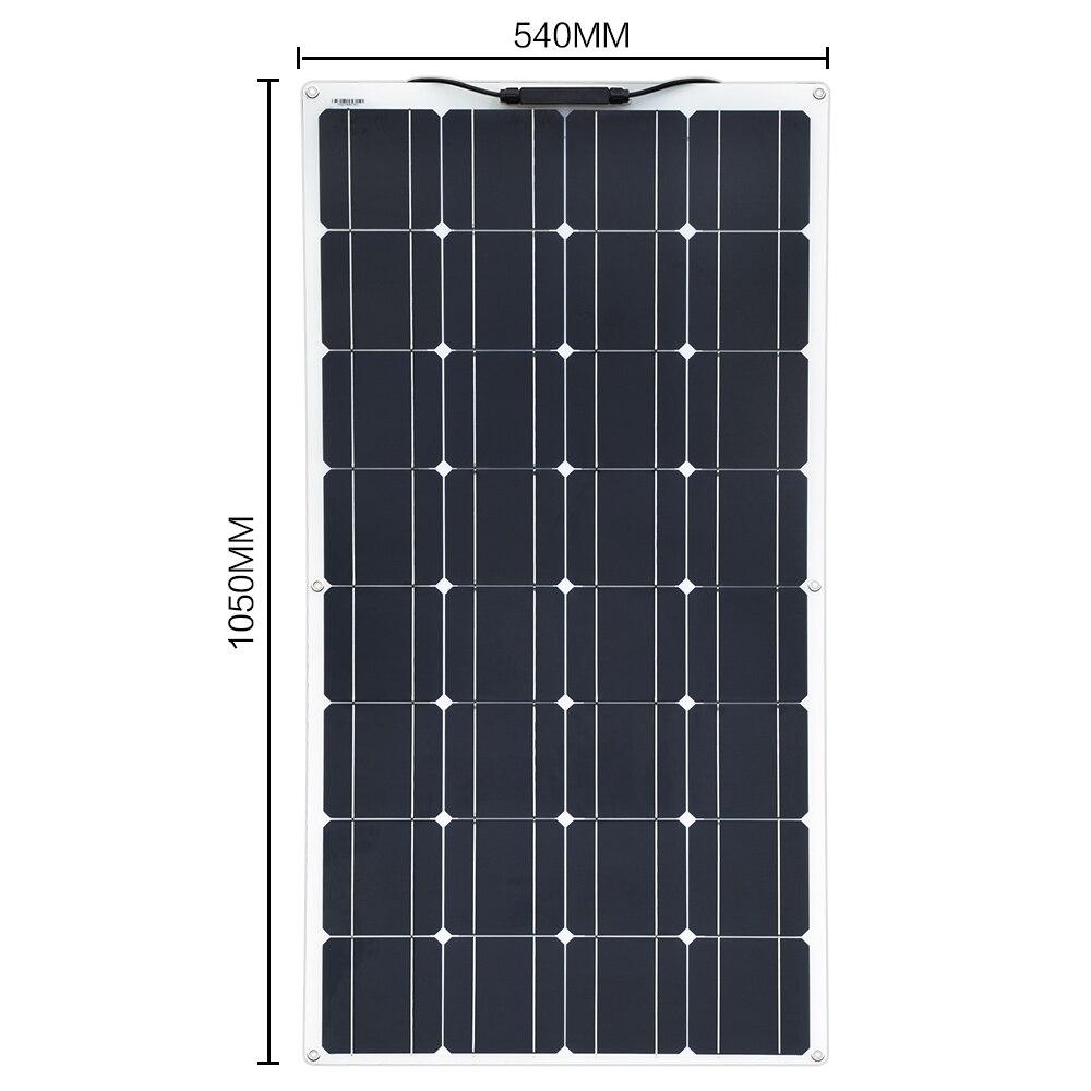 Boguang 16 V 100 W panneau solaire avec contrôleur 10A Sonnenkollektor 100 Watt flexible placa solaire 12 v monocristallin batterie 100 w - 2