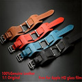 38MM 42MM 1:1 Original Design Cuff Bracelet Genuine Leather Band For Apple Watch Band Wide Wrist Strap For iWatch With Adapters