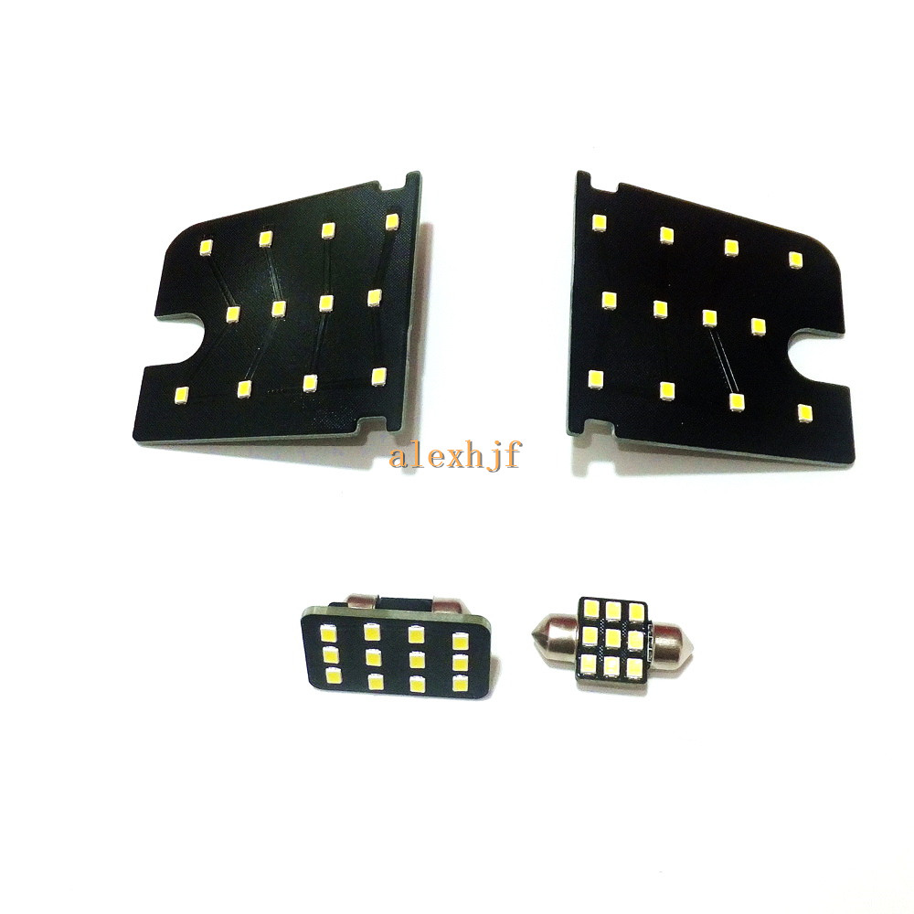 July King Car LED 6000K White Interior Reading Lights Case for Mitsubishi Outlander, 2835SMD 45LEDs, 4pcs, High Brightness cawanerl car canbus led package kit 2835 smd white interior dome map cargo license plate light for audi tt tts 8j 2007 2012