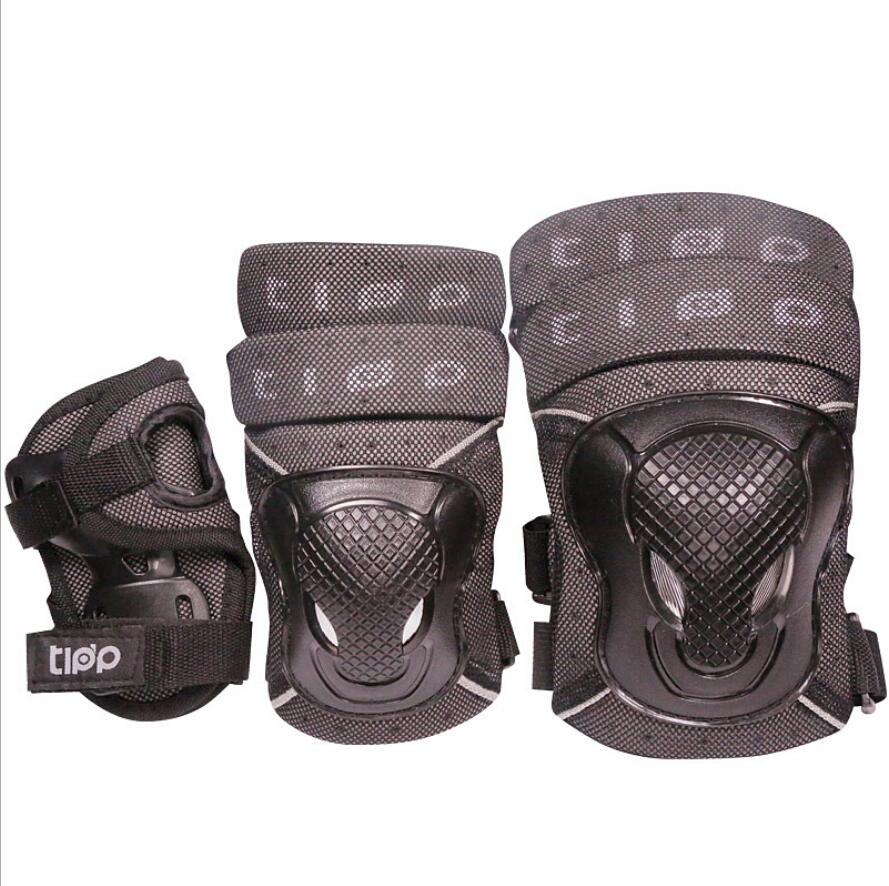 6pcs/Set protective patins Set Knee Elbow Pads Wrist Protector Skateboard Parts Protection for Scooter Cycling Roller Skating-in Skate Board from Sports & Entertainment