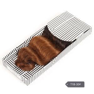 Image 5 - Kiểu dáng đẹp Đầy Màu Sắc Mở Rộng Tóc Đôi Rút Ra Tự Nhiên Cơ Thể Sóng Tóc Brazil Cơ Thể Sóng Tóc Con Người Weave Gói Remy Tóc Con Người