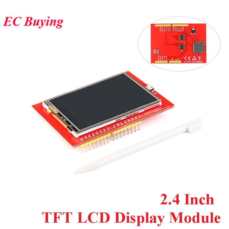 2.4 Inch TFT Color Screen LCD Display Module 5V/3.3V 320*240 PCB Adapter Mega2560 ILI9341 With Touch For Arduino
