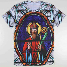 New Fashion Funny 3D t-shirt men/women's 3D Tshirt Pharaoh printed stained glass Art Printed Sexy Casual Soft Tees T-shirt tops