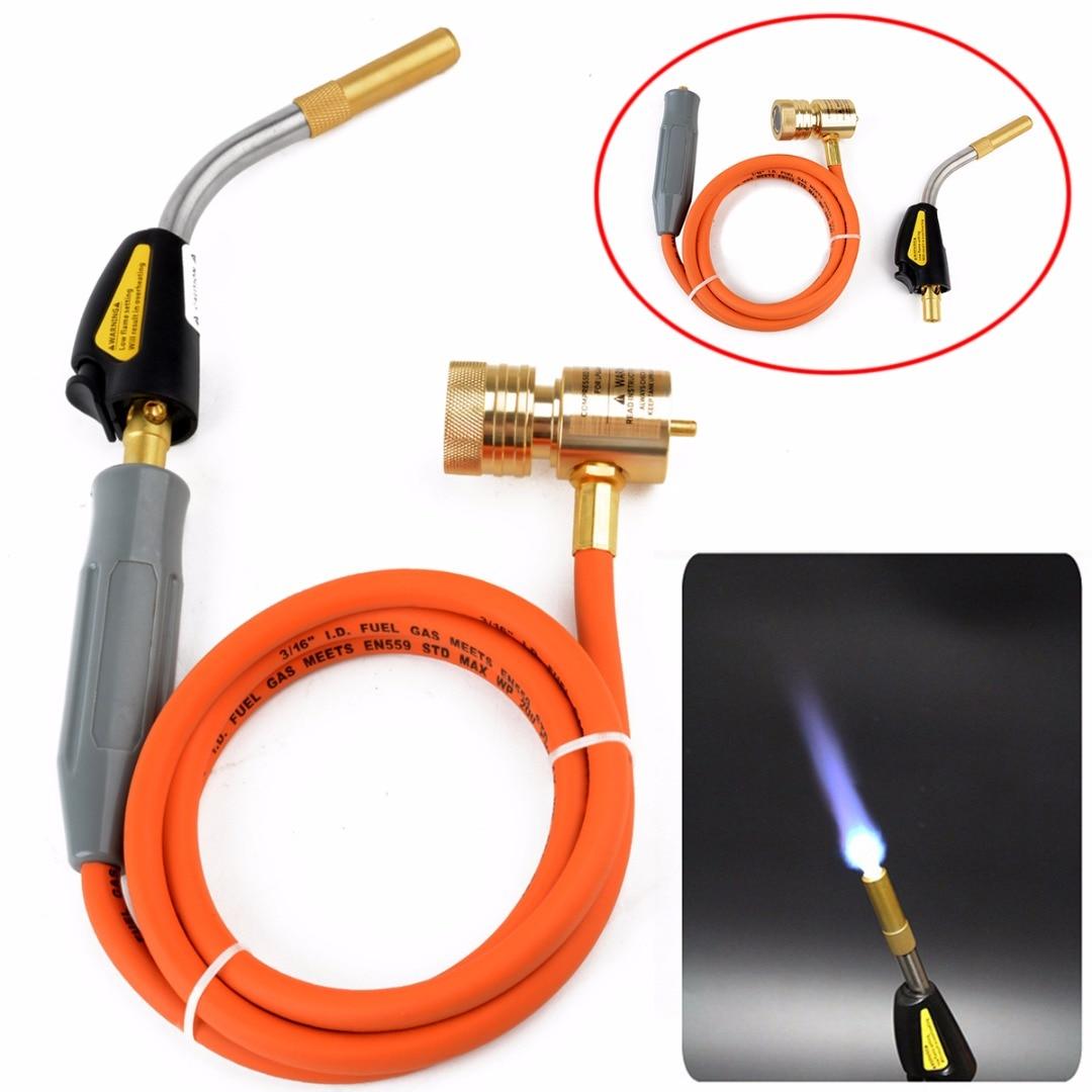 Высокое качество газа самовоспламенение Turbo факел со шлангом припоя пропан сварочной горелки для сантехники кондиционер отопление mayitr