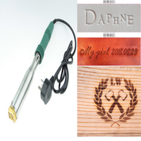 Wood Branding Iron Heat Embosser Embossing Stamping Leather Logo Branding Stamp Branding Electric Heater 220V 300W