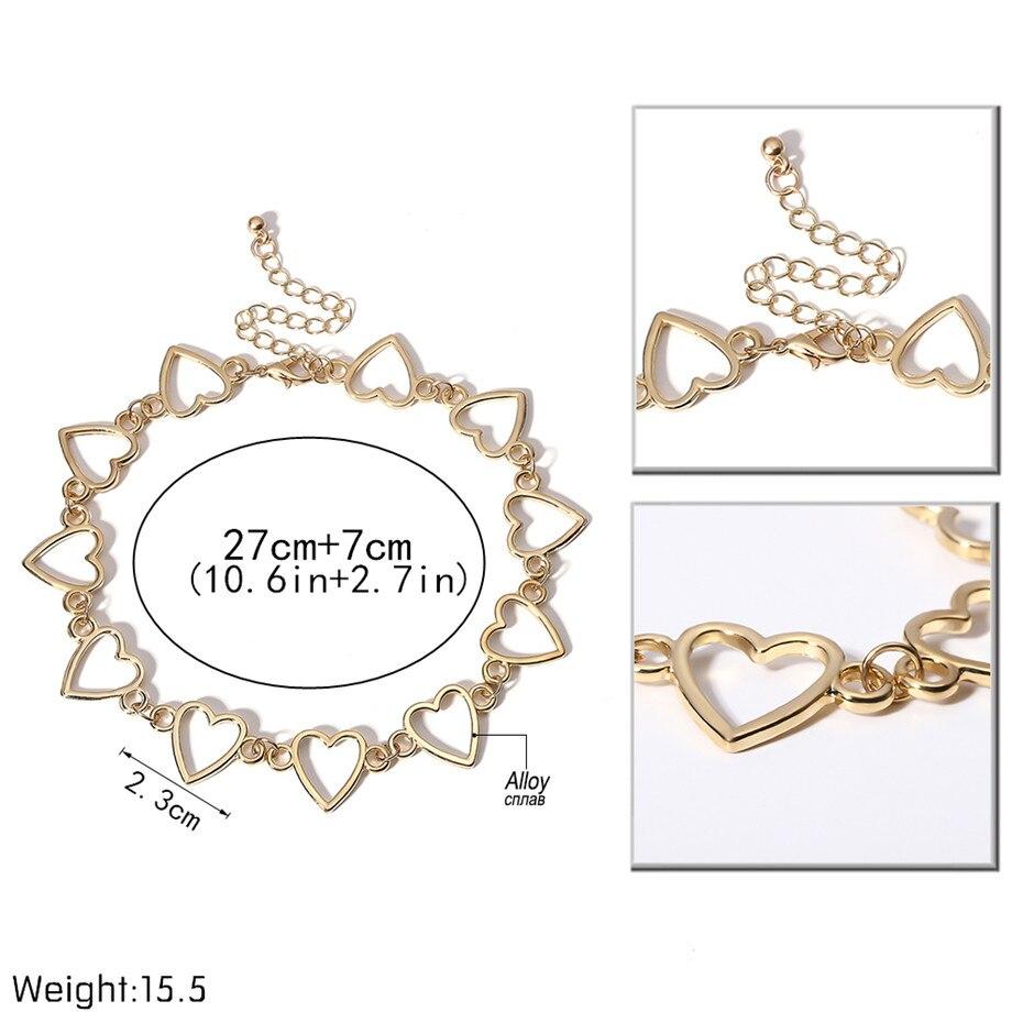 Ingemark Korean Sweet Love Heart Choker Necklace Statement Girlfriend Gift Cute Gold Silver Necklace Jewelry Collier Femme 18 3