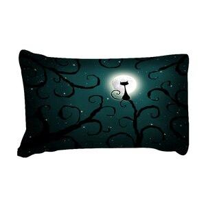 Image 5 - משפחת וונג מצעים 3d חתול ירח לילה סט מצעי פוליאסטר שמיכה כיסוי מיטת סט תאום מלכת מלך גודל בית טקסטיל