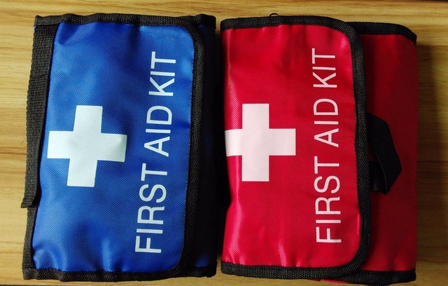 38pcs/pack Safe Portable first aid bag home car outdoor travel medical bag Mini auto emergency kit camping survival box