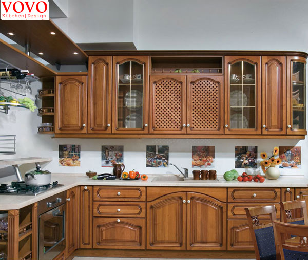 Fresno americano gabinetes de cocina de madera maciza en Gabinetes ...