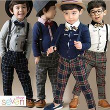 Специальное предложение, Модный хлопковый костюм для свадебной вечеринки в английском стиле для мальчиков, Attrie для мальчиков+ галстук-бабочка и ремень, 929A