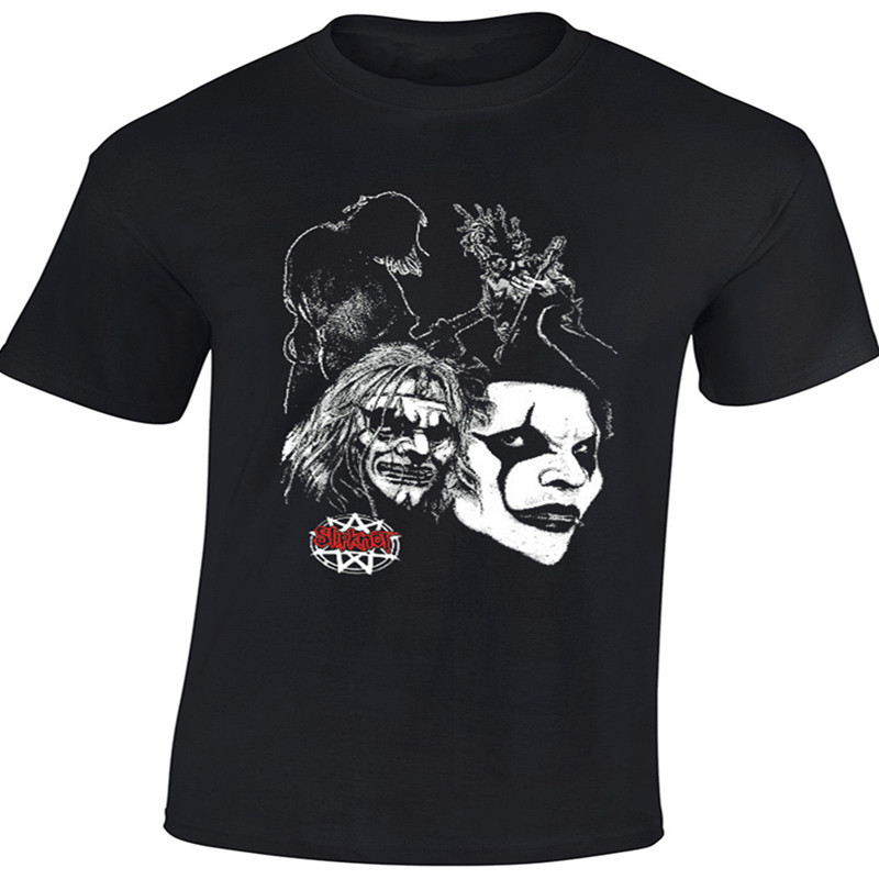 Men S Novelty Horrible Skull T Shirts Slipknot Shirts Rock Metal Band Excellent Quality 100 Cotton
