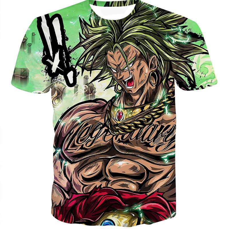 2019 Dragon Ball Z camiseta 3D camiseta libélula camiseta Super Saiya Son Goku Vegeta impresa camiseta niño niños top Casual camisetas
